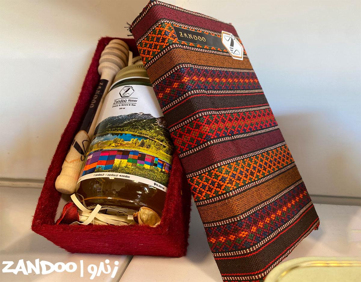 بسته بندی زیبا و باکیفیت عسل کوهی وحشی