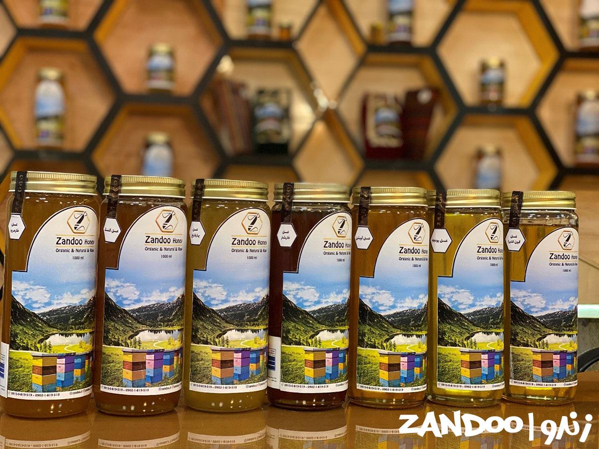 انواع مختلف عسل همراه با عسل اصل کنار